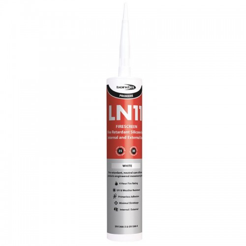 Bond It - LN11 Fire Screen Silicone Sealant White Box of 12