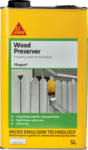 Sika - Sikagard Wood Preserver Clear 5 Litres Box of 4