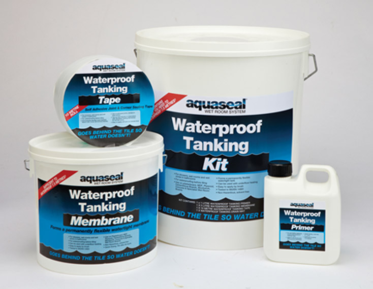 Aquaseal Wet Room System Kit - Everbuild - Shower, Wet Room & Walk In Shower Waterproofing Kit