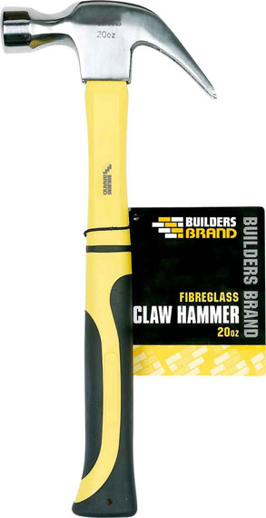 Builders Brand - Fibreglass Claw Hammer 20oz